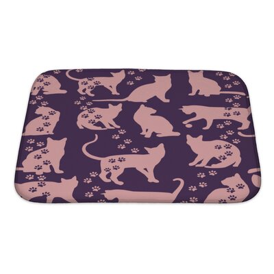 Animals Cat Bath Rug Size: Small