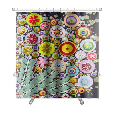 Art Touch Vibrant Spring Bouquet Full of Wild Colorful Flowers Premium Shower Curtain