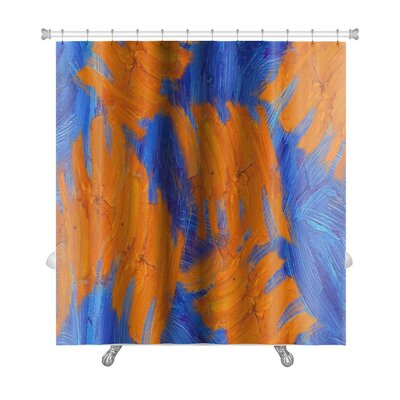 Simple Hand Painted Impressionistic Oil Painting Premium Shower Curtain