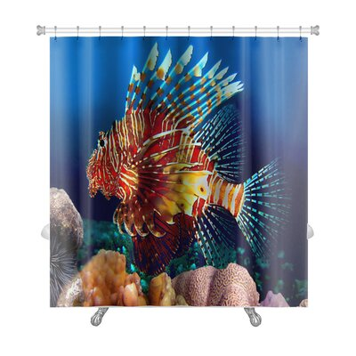 Fish Lionfish Premium Shower Curtain