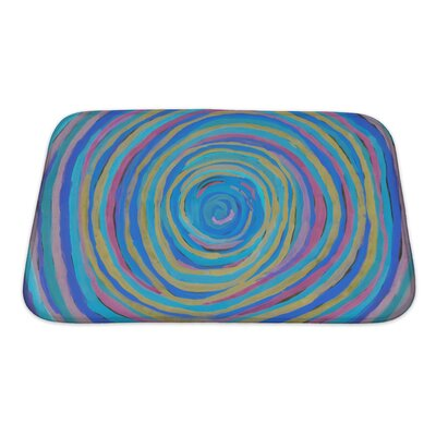 Beta Abstract Hand Drawn Paint Bath Rug Size: Small