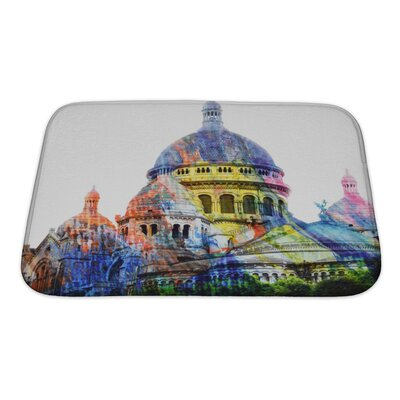 Art Hard Basilica of the Sacred Heof Motmartre Bath Rug Size: Small