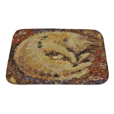 Animals Cat of Gustav Klimt Inspired Style Bath Rug Size: Small