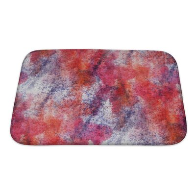 Art Primo Impressionism Artist Watercolor Wallpaper of Handmade Bath Rug Size: Small