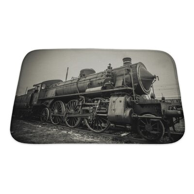Vintage Old Train Photo Bath Rug Size: Small