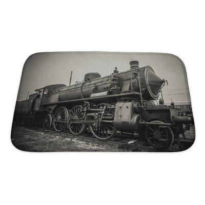 Vintage Old Train Photo Bath Rug Size: Small