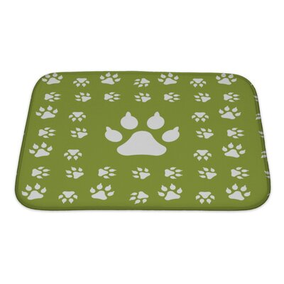 Animals with Dog Paw Print Bath Rug Size: Small