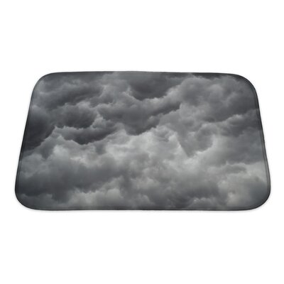Nature Storm Clouds Before a Thunder-Storm Bath Rug Size: Small