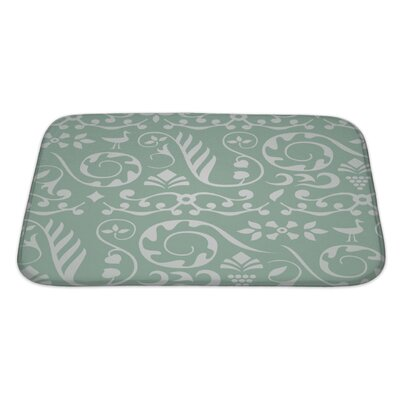 Beta Decorative Pattern with Birds and Elements of Plants Bath Rug Size: Large