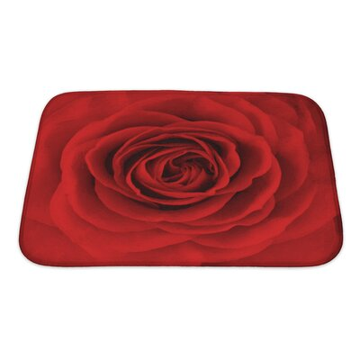 Flowers Rose Flower, Oil Painting Bath Rug Size: Small