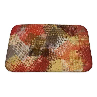 Art Beta Abstract Ink Lines Pattern Impressionist Bath Rug Size: Small