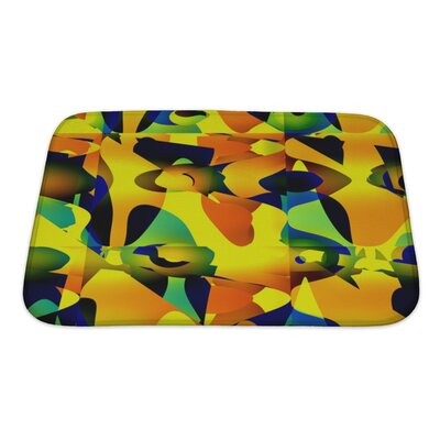 Art Beta Abstractive Unusual or Offbeat Pattern Bath Rug Size: Small