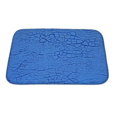 Wood Cracked Paint on Wall Bath Rug Size: Small