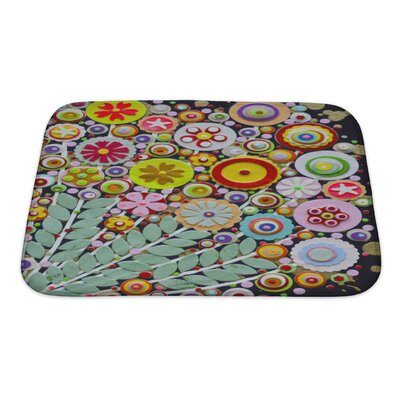 Art Touch Vibrant Spring Bouquet Full of Wild Colorful Flowers Bath Rug Size: Small