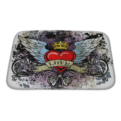 Danger Hewith Wings Bath Rug Size: Small