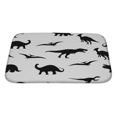 Dinosaurs Dinosaur Pattern Bath Rug Size: Large