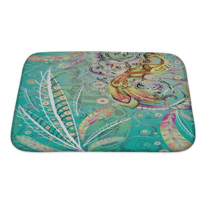Art Alpha Firebird with Crown Bath Rug Size: Small