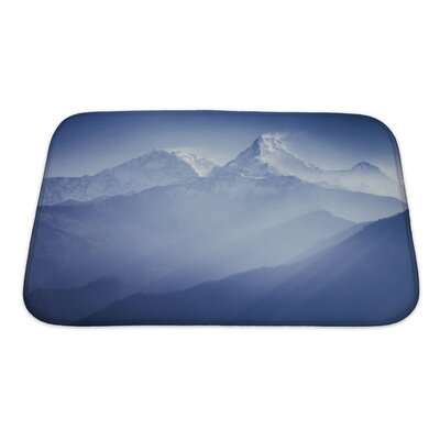 Landscapes Annapurna Mountains in Sunrise Light Bath Rug Size: Small