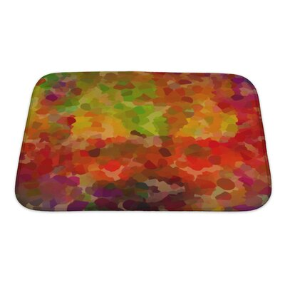 Art Touch Abstract Living Colors Bath Rug Size: Small