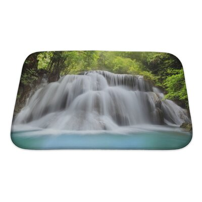 Landscapes Level 3 of Huai Mae Kamin Waterfall in Kanchanaburi Province, Thailand Bath Rug Size: Small