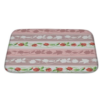 Primo Flowers and Leaves Bath Rug Size: Large