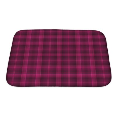 Beta Bold Tartan Plaid and Deep Raspberry Bath Rug Size: Small