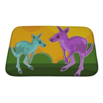 Animals Kangaroo Imagination Bath Rug Size: Small