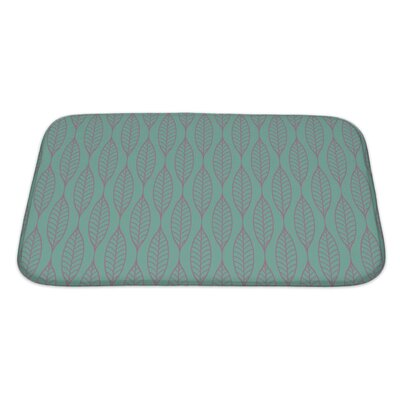 Gamma Stylized Leaf Pattern Bath Rug Size: Large