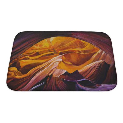 Landscapes Canyon Inside a Cave Bath Rug Size: Small
