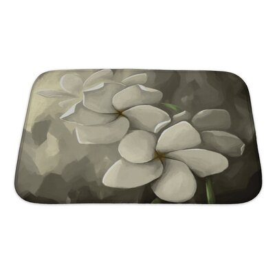 Flowers Digital Painting in Computer Bath Rug Size: Small