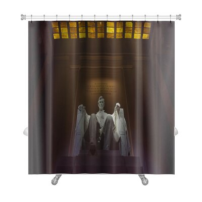 Patriotic Lincoln Memorial, Washington, DC Premium Shower Curtain