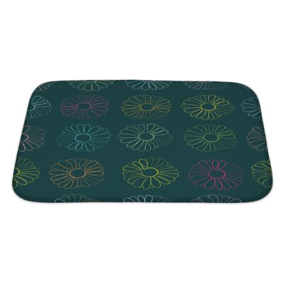 Slide Contours of Camomiles Bath Rug Size: Large