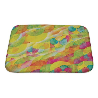 Kilo Floral Watercolor Abstract Bath Rug Size: Small