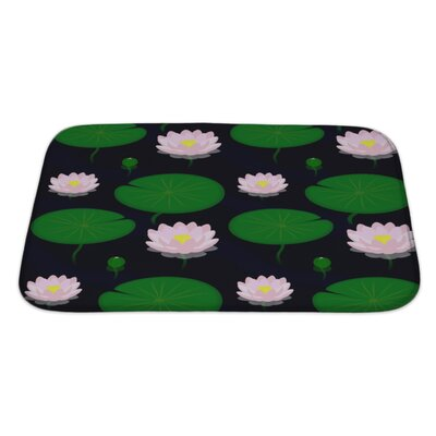 Cappa Evening Pond with Lilies Bath Rug Size: Large