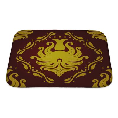 Slide Retro Vintage Victorial Baroque Bath Rug Size: Small