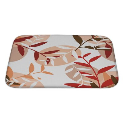 Leaves Leaf Pattern Bath Rug Size: Large