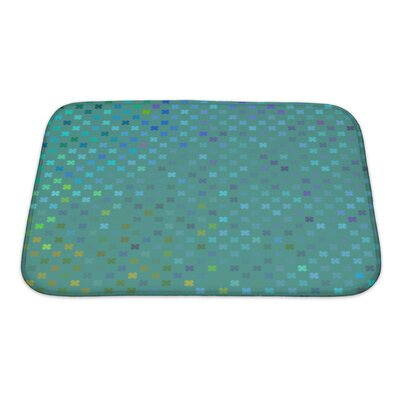 Cappa Leaf Pattern Bath Rug Size: Small