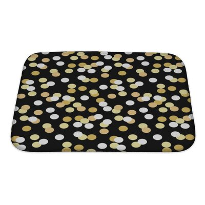 Slide Confetti Graduation Bath Rug Size: Small