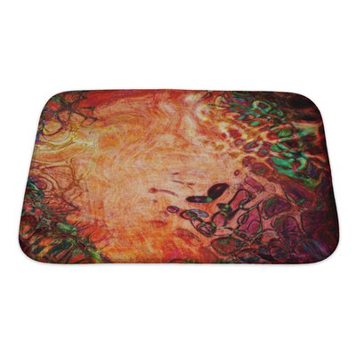 Art Beta Watercolor Abstract Pattern Computer Generated Bath Rug Size: Small