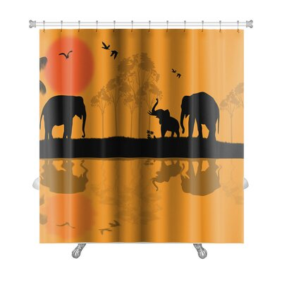 Animals Elephants Premium Shower Curtain