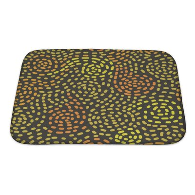 Bravo Abstract Swirls Pattern, Bath Rug Size: Small