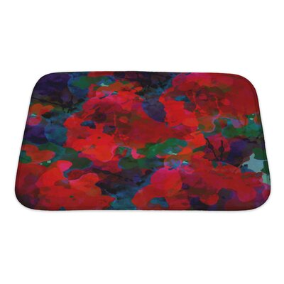 Art Alpha Floral Watercolor Abstract Bath Rug Size: Small