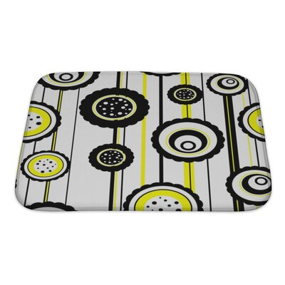 Fun Abstract Pattern Bath Rug Size: Small