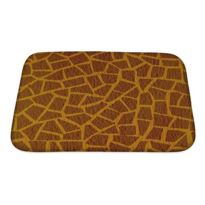Simple Giraffe Leather Bath Rug Size: Small