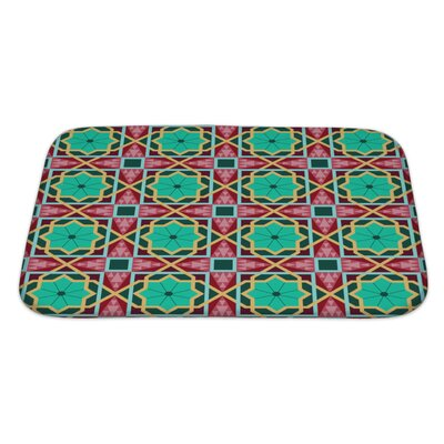 Charlie Oriental Traditional Ornament, East Pattern Geometric Bath Rug Size: Large
