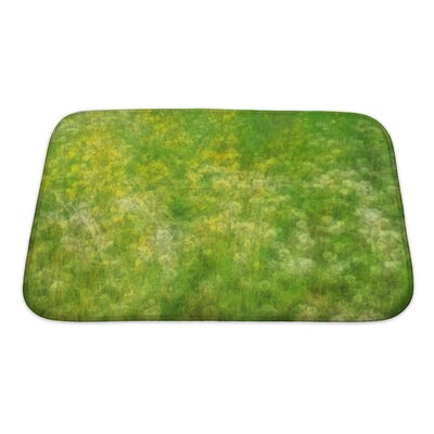 Bravo Field with Wildflowers Bath Rug Size: Small