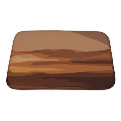 Nature Landscape Backdrop Abstract Art Bath Rug Size: Small