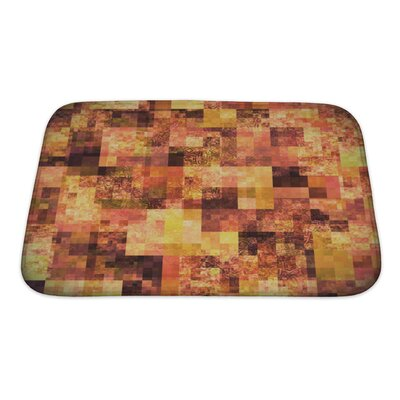 Art Touch Abstract Bright with Mosaic Pattern Bath Rug Size: Small