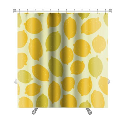 Primo Lemons Premium Shower Curtain