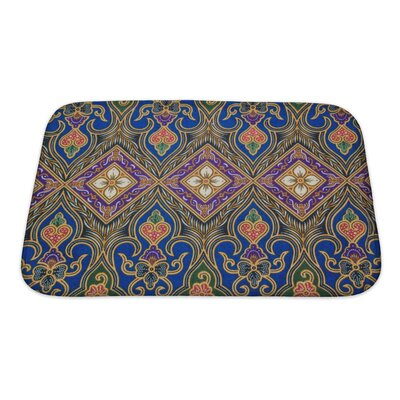 Gamma Beautiful Indonesia Floral Batik and Motifs Bath Rug Size: Large